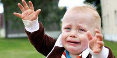 TRIST: Det er ikke lett å forlate en gråtende 1-åring.