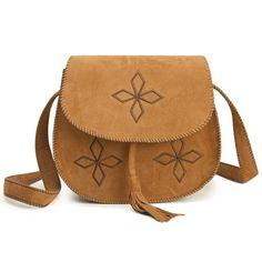 Tassels Design Bordered Crossbody Bag For Women