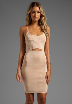 STRETTA Kylee Dress in Wheat - Body Con