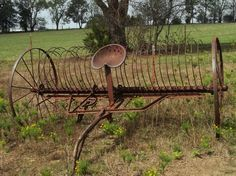 Old horse drawn rake--some of my earliest childhood memories are of my grandfather coming in from the field at the end of the day. Loved to see him come into the barnyard with the horses and unharness them. Can still remember the smell of those horses after a days work.