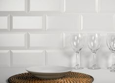 A popular matt white brick-shaped biselado bevelled edge tile. These timeless ceramic matt white metro tiles are ideal for bathroom or kitchen walls, order white metro tile samples online with free delivery. White Wall Tiles, Wall And Floor Tiles, Wall Tile Adhesive, Glass Brick, Metro Tiles, Underfloor Heating, Splashback, Bathroom Wall, Kitchen Walls