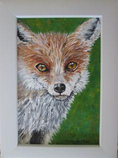 RED FOX Art / fox painting, original art, wild animal art, wildlife, nature, woodland art, pet portrait, Home Decor, nature lover, wildlife by marjansart on Etsy