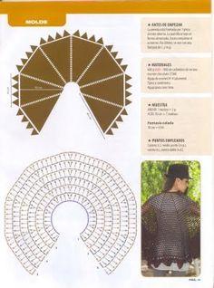 As Receitas de Crochê: Capa de crochê ampla e fácil de fazer