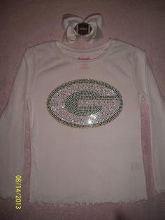 Green Bay Packers inspired shirt and hair by rhinestonecuteness, $17.00