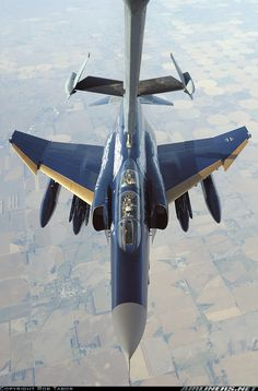 McDonnell Douglas F-4F Phantom II during air refueling