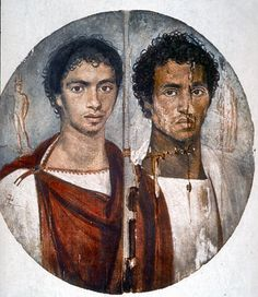 A fine portrait of two brothers from the Fayum romansociety.org/imago/searchin…