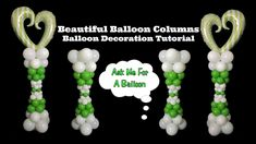 Beautiful Balloon Columns - Balloon Decoration Tutorial by AMFAB