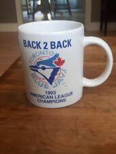 Vintage Toronto Blue Jays Mug 1993 American League Champions Blue Jays World Series, Toronto Blue Jays Logo, Champion Sports, American League, Philadelphia Phillies, Vintage Coffee, Vintage Tees, Selling On Ebay, Mugs