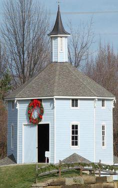 Blue Octagon Barn