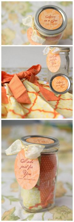 Apron in a Jar Mothers Day Gift Idea