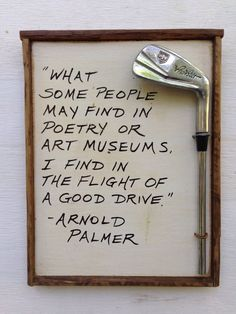 Golf Gift Reclaimed Wood Golf Plaque Arnold by ivegotahammer