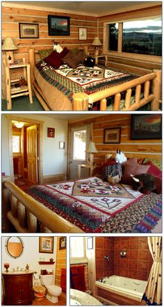 This is the cozy Bitterroot Room.  Part of Blue Mountain Bed and Breakfast located in scenic Missoula, MT.