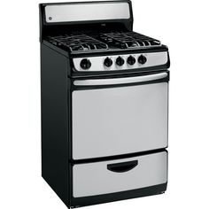 ranges and stoves ge 24 stainless steel gas range u003e