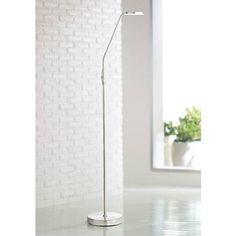 harmon brushed steel led task floor lamp