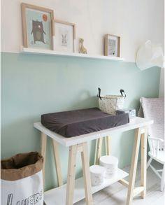 Ook zonder felle kleuren zien deze babykamers er mooi uit