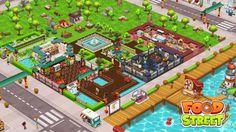 Food Street Game, Restaurant Design, Game Design, Beautiful