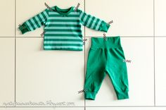striped outfit for my baby boy, organic fabrics from Nosh // ajatuksiasaksasta.blogspot.com