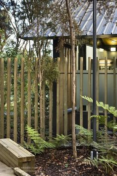WAITANGI TOILET BLOCK by Harris Butt Architecture Beam Structure, Timber Screens, Toilet Design, Post And Beam, Concrete Blocks, Skylight, Clear Glass, How To Memorize Things, Exterior