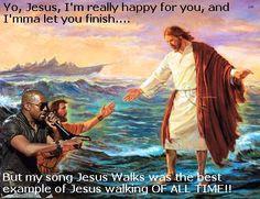 Kanye V Jesus    #Meme #Immaletyoufinish #rapmeme #hiphopmeme #yeezytaughtme #kanye #Mrwest #Disney