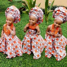 Finding Modern African Style for your little one can sometimes require finding African themed stores near you or checking through magazines. To spare you these issues we've assembled a rundown of charming African motivated attire for kids. African Attire, African Wear, African Dress, African Fashion, Ghanaian Fashion, African Style, Precious Children, Beautiful Children, Beautiful Babies