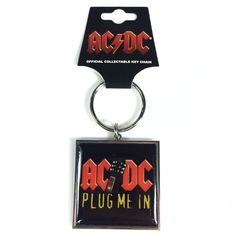 Chaveiro de Metal 89 FM A Rádio Rock AC/DC Plug Me In #ACDC #bandUPStore #LojaRadioRock