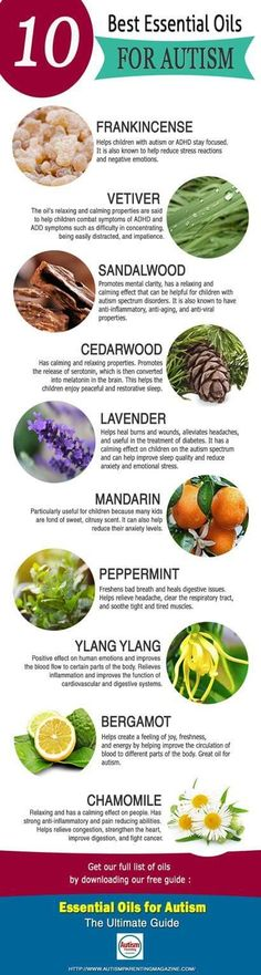 Recommended Essential Oils for ASD, ADHD and ADD