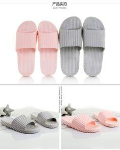 Ms. bathroom slippers summer male Korean version of home interior slip heavy-bottomed couple household plastic bath sandals and slippers -tmall.com Lynx