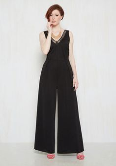 Fiercely Refined Jumpsuit. Your chic style knows no bounds, and with this black jumpsuit from Jack by BB Dakota, your boldness is out of control! #black #modcloth