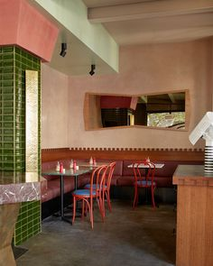 Gabriel Cafe Fitzroy, Melbourne by Flack Studio Cafe Interior Design, Cafe Design, Interior Architecture, Cafe Restaurant, Restaurant Design, Flack Studio, Gabriel, Interior Inspiration, Design Inspiration