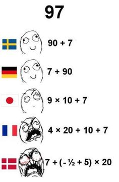 Saying number as some languages.