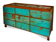 Beautiful furniture and accessories, all made from reclaimed boat wood.