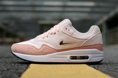 bf5c30d0de Nike Air Max 87 Light pink orange Metal gold Womens Movement Fitness Nike  Air Max 87