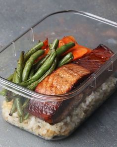 Grab Your Workout Buddy And Make This Healthy Salmon Meal Prep For Two