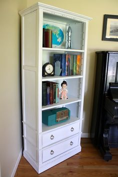 Bookshelf Makeover with Maps