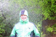 Hier stellt sich Salewas Jacke dem Regentest