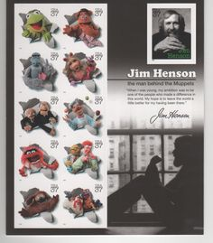 A set of stamps honoring Jim Henson. It doesn't really fit in with any of my stamp/postal history collections, but I thought it was cool enough to pick up.