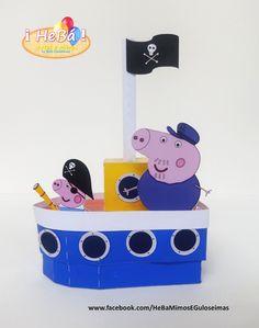 caixa Barco Vovô Pig