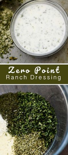 Homemade Ranch Dressing - Zero Smart Points - Recipe Diaries #weightwatchers #zeropoints #dressing #ranch