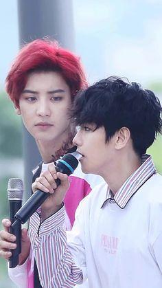 How Chanyeol stared at Baekhyun