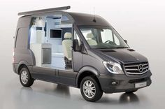 Mercedes-Benz Reveals the New Sprinter L5-B Camping Van. I saw this on the road yesterday and was totally awed.