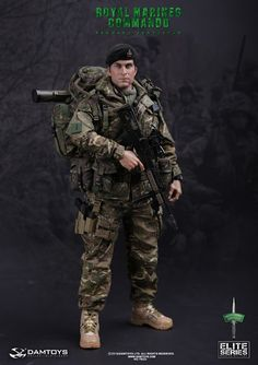 onesixthscalepictures: DAM Toys ROYAL MARINES COMMANDO : Latest product news for 1/6 scale figures (12 inch collectibles).