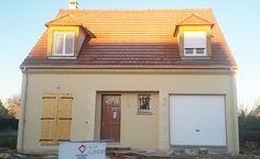 La #maison de Line Rose et Laurent dans l'Oise - modèle NOIR JASPEE de la gamme HOME CHRYSALIDE #House #MaisonsPierre #Maison