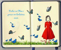 O Blog da Tita: Borboletas Azuis. #collage ; #colagem