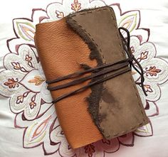Brown Handmade Leather Traveler's Notebook / Midori Style