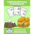 FREE Landforms Dictionary (or Coloring Book)  This versatile set can be used as either a student Landforms dictionary or as a Landforms Coloring Bo...