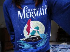 The little mermaid sweater my favorite Disney princess Disney Style, Disney Love, Disney Magic, Disney Art, Disney Outfits, Cute Outfits, Disney Clothes, Mermaid Shirt, Ariel The Little Mermaid
