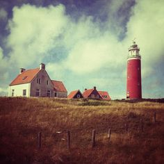 Lighthouse by Marco Nedermeijer, via Flickr | #texture #ivory #green #brown #red #iphoneography