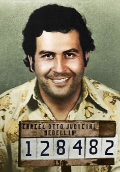 The man who is regarded as the greatest drug trafficker of all time. Pablo Escobar, was the kingpin of drugs during the Pablo Escobar Poster, Pablo Escobar Quotes, Don Pablo Escobar, Pablo Emilio Escobar, Gangster Tattoos, Mafia Gangster, Gangster Party, Gangster Girl, Chicano Tattoos