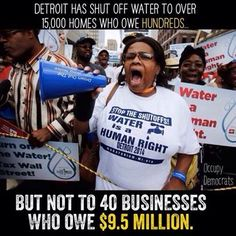 The banks that received money for the bailouts? Nope blame the poor people barely making ends meet..CEO's deserve bonuses more than poor deserve water.