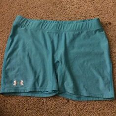 Under armour spandex Aqua colored under armour spandex. Barely ever worn! Under Armour Shorts
